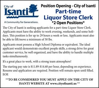Liquor Store Clerk