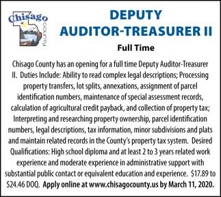 Deputy Auditor-Treasurer II