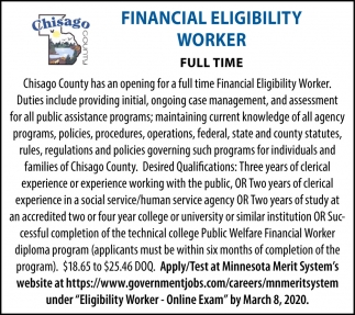 Financial Eligibility Worker